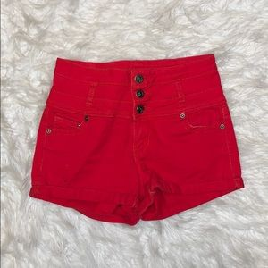 ⭕️⭕️1st Kiss size 3 red high waisted shorts